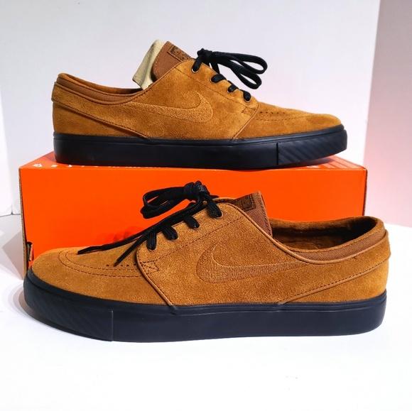 marcas reconocidas oficial 50% rebajado Nike SB Stefan Janoski British Tan Skate Shoes NWT